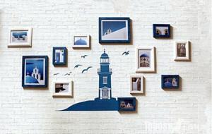 现代简约时尚客厅照片墙装修大全