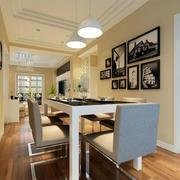 120平米三居室餐厅装修图
