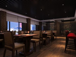 90平米都市餐厅室内吊顶装修效果图欣赏