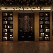 120平米混搭风格唯美餐厅背景墙装修效果图