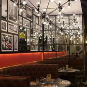 140平米精致的现代餐厅背景墙装修效果图实例
