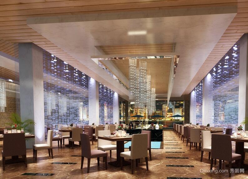 200平米独特的时尚餐厅吊顶装修效果图