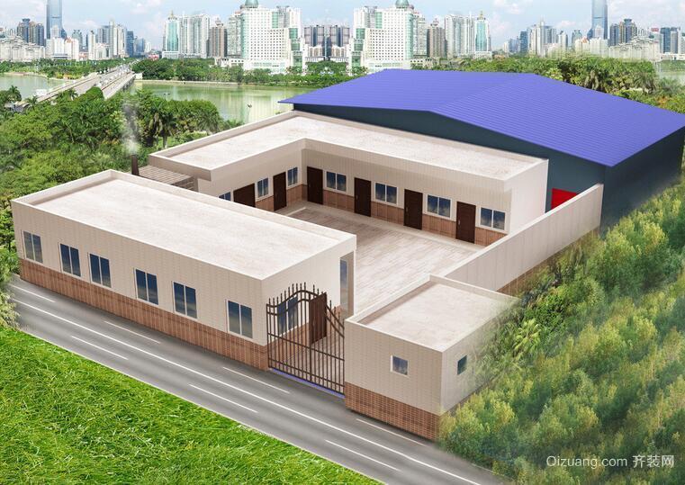 200平米大户型经典钢结构厂房设计效果图欣赏