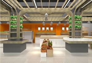 30平米都市唯美小水果店室内装修效果图