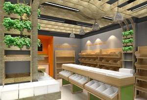 120平米时尚精致的水果店室内装修效果图欣赏