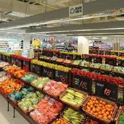 140平米大型完美的水果店室内背景墙装修效果图