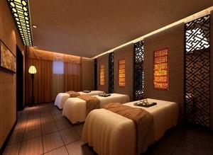 90平米暖色调完美的美容院吊顶装修效果图