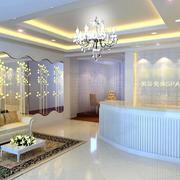 140平米经典的宜家美容院背景墙装修效果图