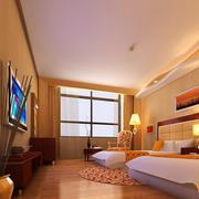 60平米大气的宾馆室内吊顶装修效果图欣赏