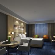 120平米都市精美的宾馆房屋背景墙装修效果图