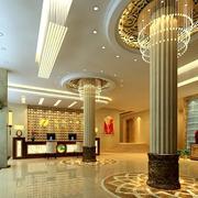 260平米高贵典雅的宾馆室内吧台装修效果图实例