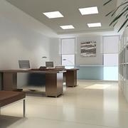 30平米现代办公室吊顶装修效果图