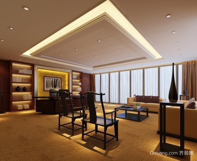 60平米现代风格办公室室内背景墙装修效果图