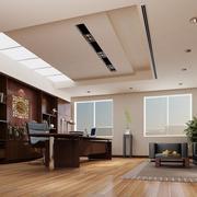 90平米现代风格办公室室内吊顶装修效果图