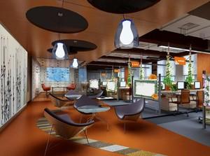 140平米现代办公室吊顶设计装修效果图欣赏