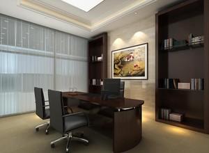 200平米现代办公室室内书柜装修效果图欣赏