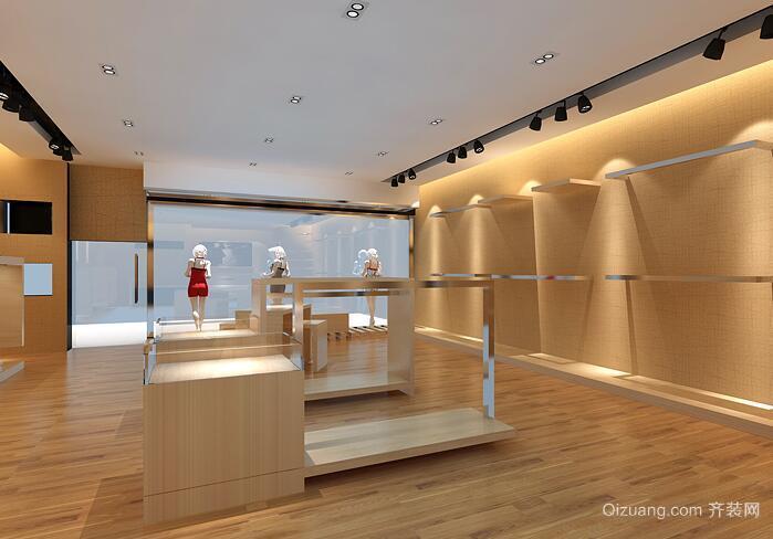 30平米现代风格唯美的服装店室内装修效果图