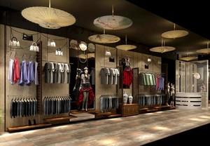 60平米现代服装店背景墙装修效果图鉴赏