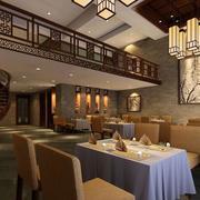 60平米现代中式酒店背景墙装修效果图