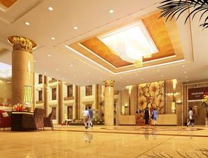 120平米现代酒店大厅设计装修设计效果图