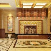 140平米现代酒店室内背景墙装修设计效果图