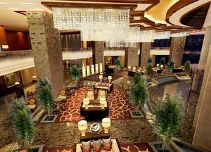200平米现代酒店室内吊顶设计装修效果图鉴赏