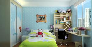 轻快时尚童趣儿童房装修效果图