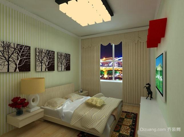 单身公寓小户型现代简约卧室装修效果图