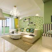 动感暖色客厅效果图
