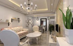 2016年自然清新轻快小户型客厅装修效果图