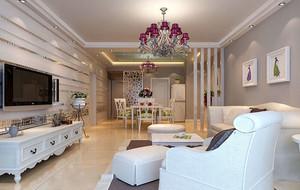 时尚欧式客厅整体装修效果图
