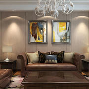 现代大户型客厅背景墙效果图