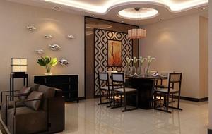 现代中式风格餐厅装修效果图
