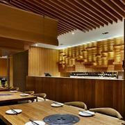 120平米现代餐厅室内背景墙装修设计效果图