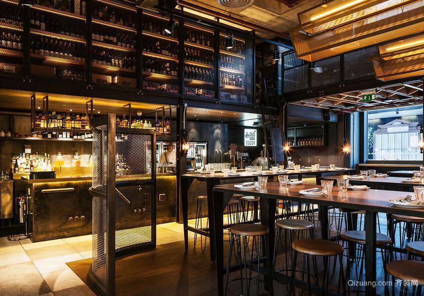 140平米现代餐厅室内背景墙设计装修效果图