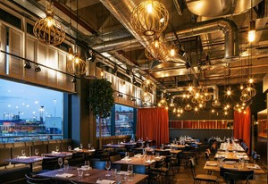 200平米完美的餐厅室内背景墙装修效果图欣赏