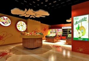 60平米现代水果店室内吊顶装修效果图欣赏