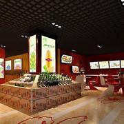 140平米现代风格水果店室内设计装修效果图