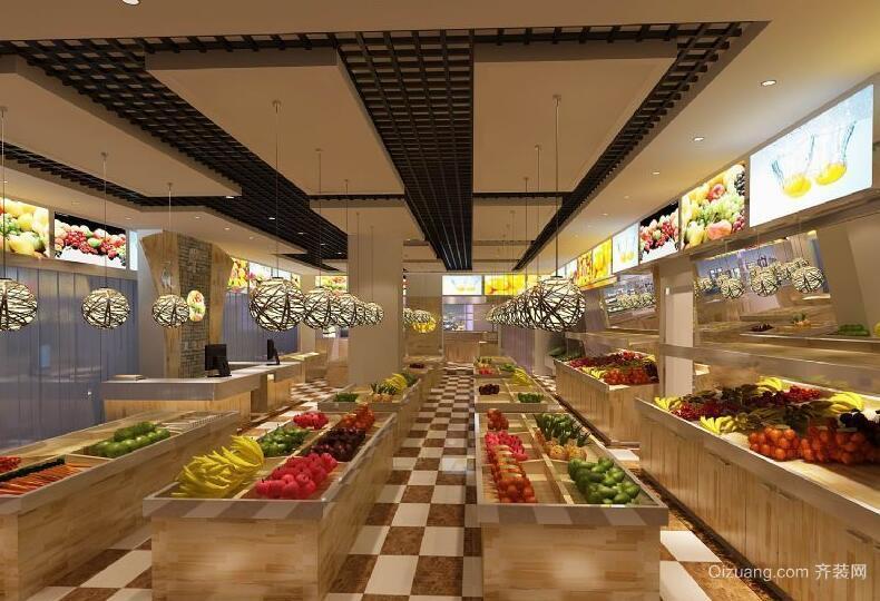 200平米独特的大型水果店吊顶设计装修效果图
