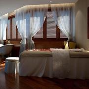 30平米现代美容院室内背景墙设计装修效果图