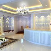 60平米大户型现代美容院室内吊顶装修效果图
