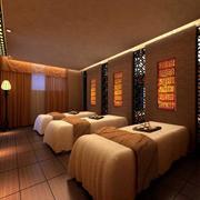 90平米现代美容院室内背景墙装修效果图