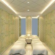 200平米现代美容院室内飘窗装修效果图