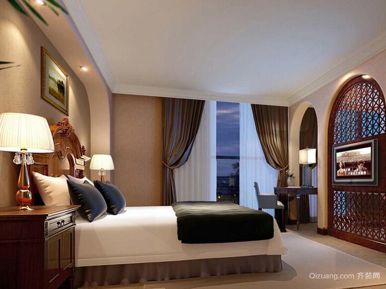 30平米现代宾馆室内吊顶装修效果图实例