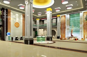 60平米现代宾馆室内吊顶装修设计效果图