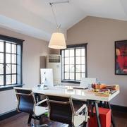 60平米简约办公室室内吊顶装修效果图