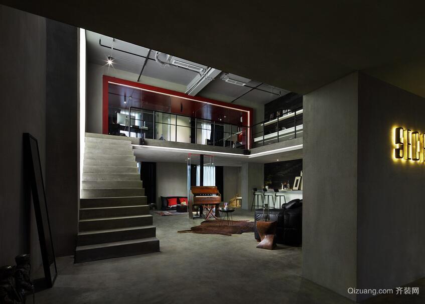120平米简约办公室室内楼梯装修效果图
