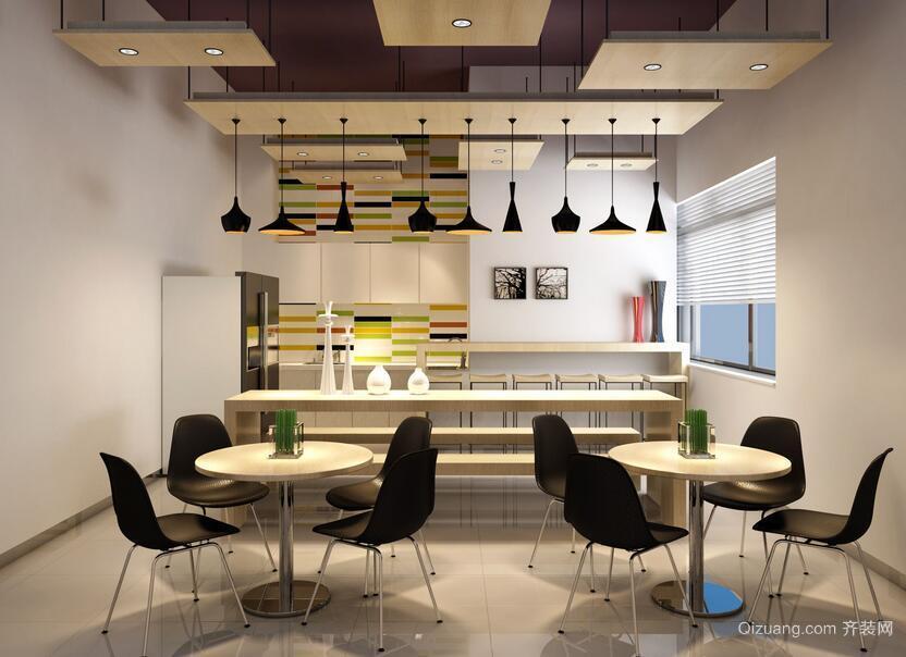 200平米简约办公室室内飘窗设计装修效果图欣赏