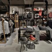 60平米简约风格服装店室内装修效果图
