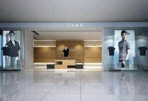 140平米简约服装店室内背景墙装修设计效果图